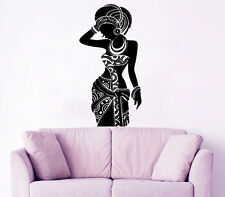 Africa Wall Decal Tribal African Woman Boho Vinyl Stickers Bedroom Decor KI120