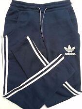 NUOVO Retro Blue EDIZIONE Adidas Originals Bottoms Pantaloni Sportivi Track Pantaloni Uomo X-SMALL