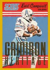 2015 Score Gridiron Heritage Gold #1 Earl Campbell OIlers