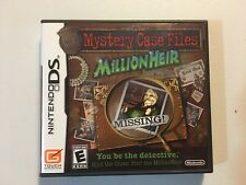 Nintendo DS Mystery Case Files: MillionHeir 2008 Big Fish Games Complete Nice!