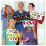Over the Hill PHOTO PROPS SIGN Birthday Party Decorations 50 40 60 Senior Old