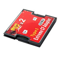2 Port SD to CF Adapter SDHC SDXC to Compact Flash CF Type I Card for Camera
