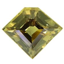 Fancy Shape yellowish Green untreated Sapphire 1.04ct natural loose gemstones