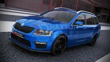 FRONT SPLITTER (GLOSS BLACK) - SKODA OCTAVIA mk3 RS 2013-up