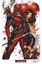 Jamie Tyndall Zenescope Comic Artist SIGNED X-Men Art Print ~ Deadpool