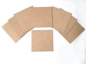 Wooden bases / Coaster Blanks 3mm MDF 10x10cm. Bargain packs Cheapest on eBay!