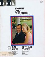 ORIGINAL Vintage Look Magazine June 15 1971 Nixon Wedding