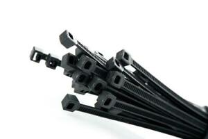 150mm x 7.6mm Cable Ties to Tidy Wires, Pipes and Bars - Black, Nylon