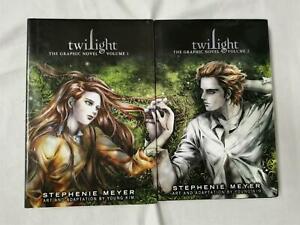 Twilight The Graphic Novel Vol 1 & 2 Stephanie Meyer Hardcover 1st Edition