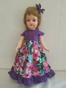 "VTG 14"" BETSY MCCALL /  TONI P-90 DOLL type HANDMADE Floral Dress + Access OOAK"