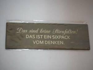 Kühlschrank Magnet - Gilde - Das sind keine Stirnfalten! ... - 15 x 5 cm