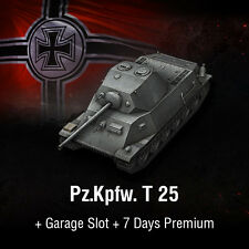 World of serbatoi | WoT | Codice Bonus | t-25 | PZ. KPFW. T 25 + 7 days Premium