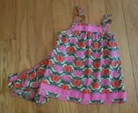 Girls HANNA ANDERSSON Tulip Dress Size 70 ~ EUC Spring Summer