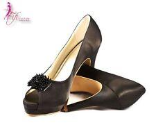 Satin Medium (B, M) Heels for Women