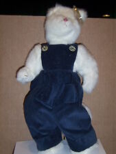"""Ty Attic Treasure 13 Inch Rare Cat """"Ivory"""" Mint with tags Very Hard To Find"""