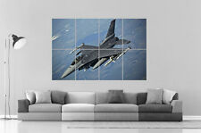 F 16 AVION DE CHASSE FIGHTER Wall Poster Grand format A0 Large Print