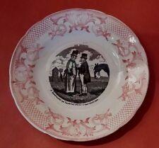 Assiette Parlante Pexonne Les Courses Antique French Majolica Talking Plate