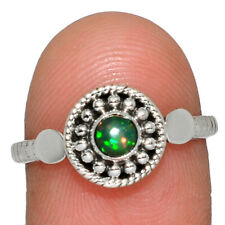 Ethiopian Opal 925 Sterling Silver Jewelry Ring s.8 AR166950 214M
