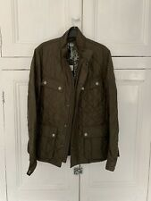 Barbour Axel Khaki Quilt Jacket Size Small