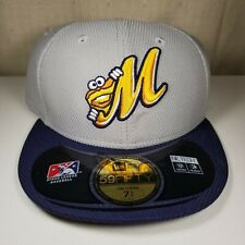 New Era 59FIFTY Montgomery Biscuits Fitted Hat MiLB Baseball Cap Size 7-3/4