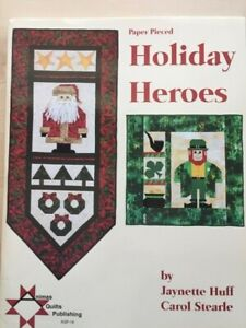 Paper pieced HOLIDAY HEROES quilts mini lap/wall hangings