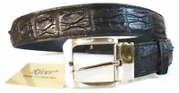 100% BIG BACKBONE GENUINE CROCODILE LEATHER MEN'S BELT SHINY COLORS ALL SIZE NEW
