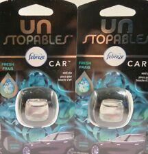Febreze Unstopables Fresh Car Vent Clip Air Freshener ~ 2 Fresh Scent Clips