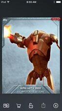 Topps Star Wars Digital Card Trader Silver Battle Droid S3 Base Variant Insert
