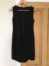 Black Maternity Tunic Dress Marks Spencer Size 10 Sleeveless Flattering Long Top