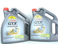 2x 5L Castrol GTX 10W40 Ultraclean 10W-40 A3B4 Aceite de Motor VW 50101 50500