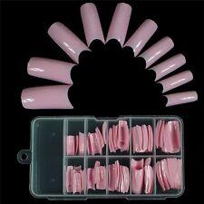 100 PCS False Acrylic Gel French Nail Art Half Tips Salon 10 Size 9 Colors US