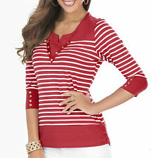 Striped V Neck Other Women's Tops