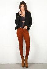 $1136 Authentic Current/Elliott Suede Ankle Skinny Jeans Burnt Orange Sz 25-0
