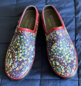 EUC/VGUC Womens Bogs Bloom Garden Shoes Size 8 (W)