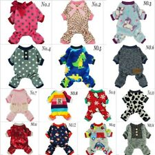 Fitwarm Fleece Winter Pajamas Dog Clothes Warm Pet Jumpsuit Puppy Coat XS S M L