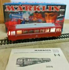 Märklin H0 3016 Uerdinger Railbus Br 795 Railcar Illuminated Tested Ob