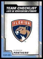 2020-21 O-Pee-Chee Blue Border Team Checklist 563 Florida Panthers