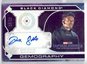 2021 UD BLACK DIAMOND MARVEL BROCK RUMLOW GEMOGRAPHY DIAMOND RELIC AUTO 15/25