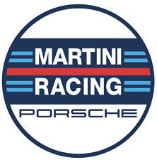 """Martini Racing Aufkleber """"PORSCHE"""" in rund 10x10cm 2 Stück rund Neu rar selten!!"""