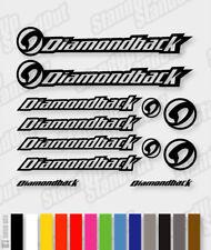 DIAMONDBACK Die-cut Decal Sticker sheet (cycling, mtb, bmx, bike, frame) - V3
