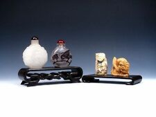 NEW Mahogany Hard Wood Large 2-in-1 Stands For *Netsuke, Snuff Bottles, Statue