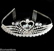 STUNNING BRIDAL  ABB SWAROVSKI  ELEMENT CRYSTAL TIARA- BRAND NEW T51