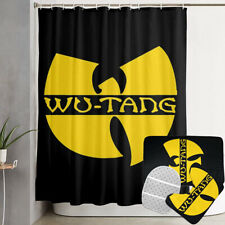 WU-TANG CLAN 4PCS Shower Curtain Bath Mat Bathroom Rugs Set Toilet Lid Cover