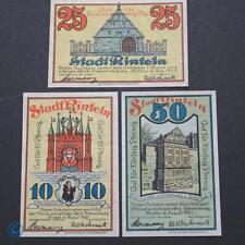 3 x Notgeld Rinteln , 3 x gut für ... statt Kennummer ,  M/G 1125.1 c kfr/unc