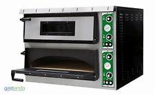 Elektro Pizzaofen Power für 2 x 9 Pizzen mit Ø 350 mm TOP Vollschamott Gastlando