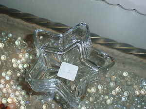 Libbey Glass Collectible Star Shaped Glass Bowls Nut/Candy Dish