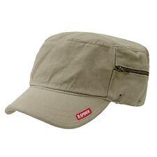 TAN ARMY MILITARY GI BDU ZIPPER POCK PATROL CAP HAT