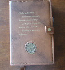 Deluxe Narcotics Anonymous NA 6th Basic Text & How and Why Tan Cover Coin Holder