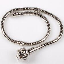 6x 150304 Wholesale LOVE European Snake Chain Bracelets Fit Charms Beads 20cm