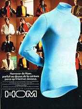 PUBLICITE advertising  1975   HOM   sous vetements homme  Homover